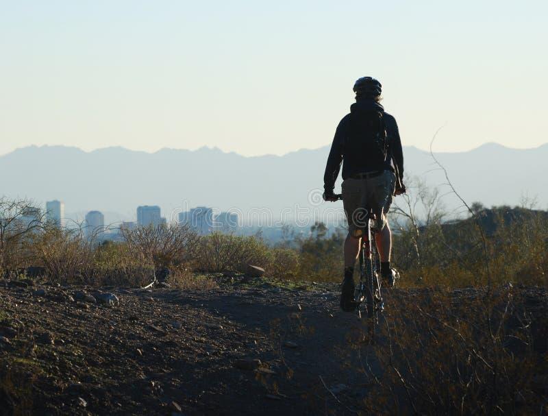 Arizona cyklisty obszaru park feniks zdjęcia stock