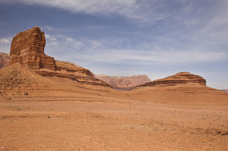 Arizona Desert at Lee's Ferry stock image