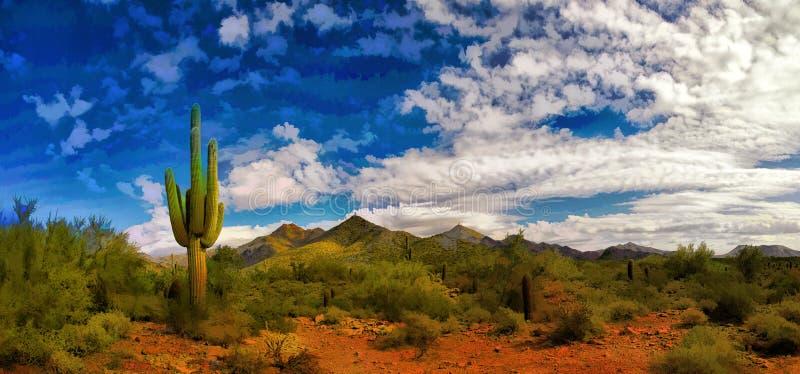 Arizona Desert in the Springtime. Arizona, USA, desert in the spring season royalty free stock photo