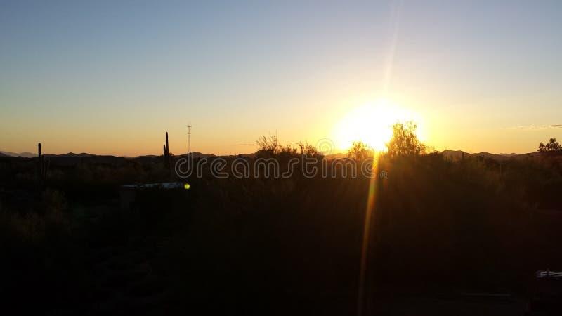 Arizona Desert Sunset stock images