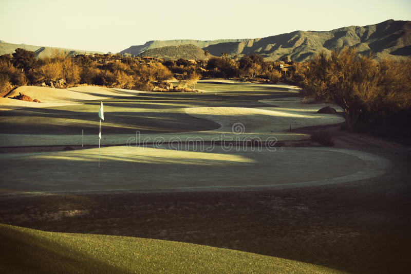 Arizona desert upscale golf course stock images