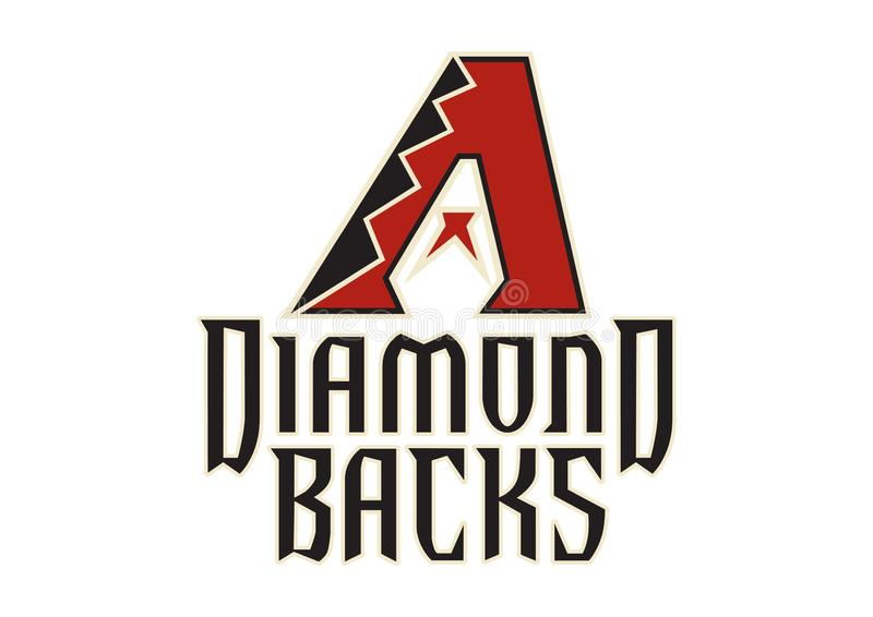 Arizona Diamond Backs Logo stock illustratie
