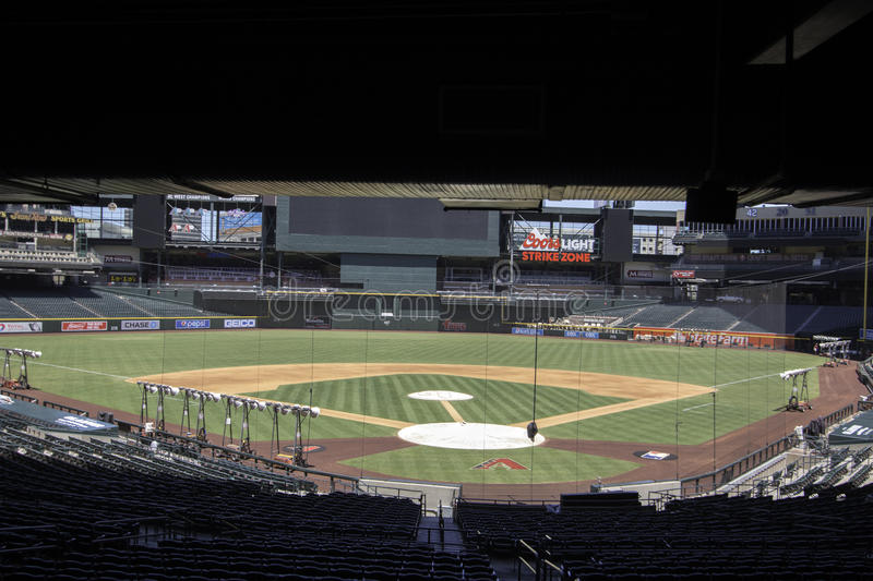 Arizona Diamondbacks pościg pola stadium zdjęcia royalty free