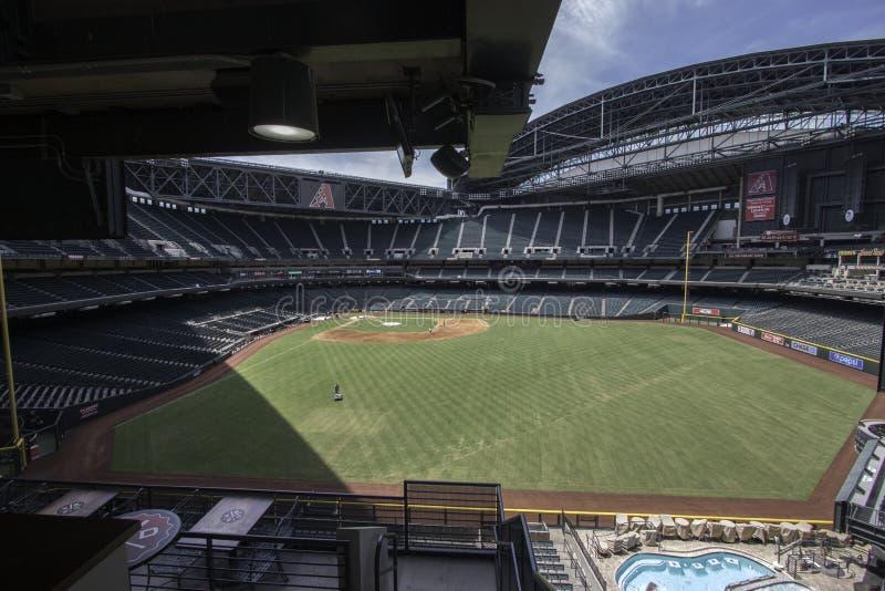 Arizona Diamondbacks pościg pola stadium fotografia stock