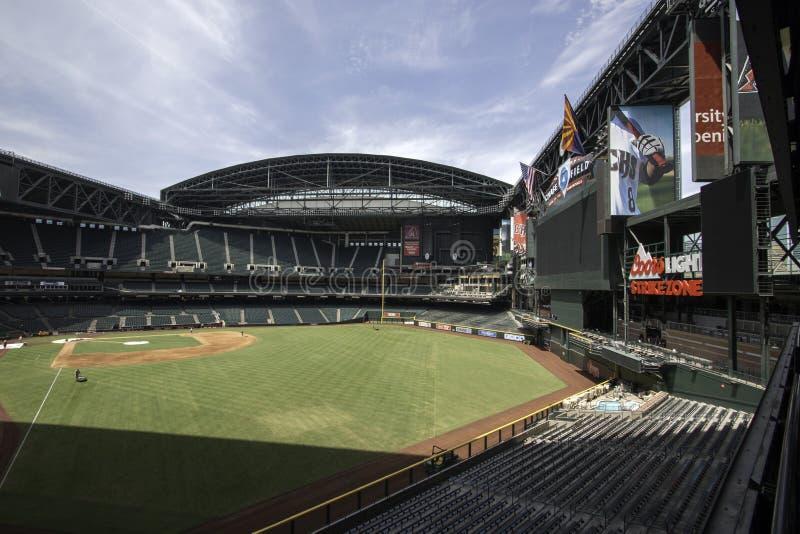 Arizona Diamondbacks pościg pola stadium zdjęcia royalty free