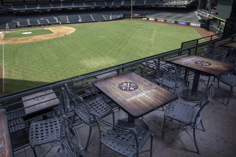 Arizona Diamondbacks pościg pola stadium zdjęcie royalty free