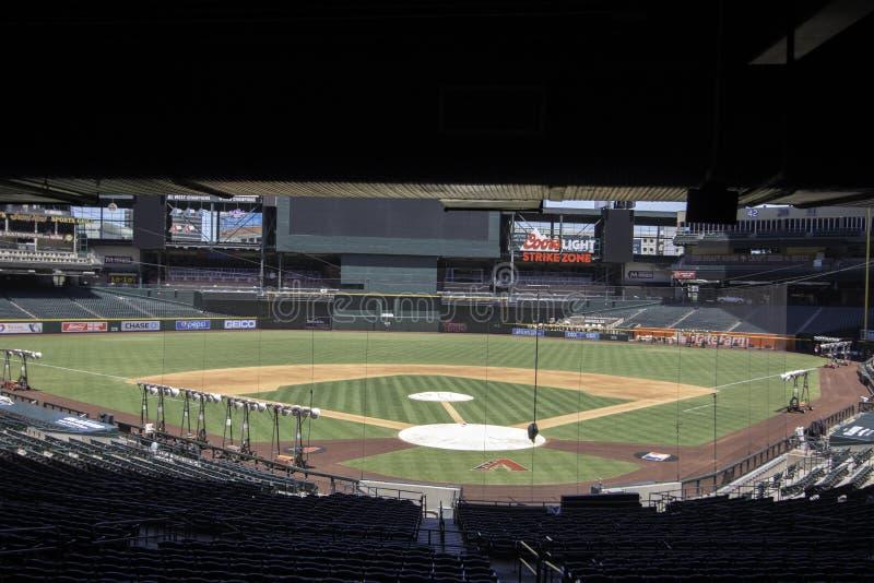 Arizona Diamondbacks-Verfolgungs-Feld-Stadion lizenzfreie stockfotos