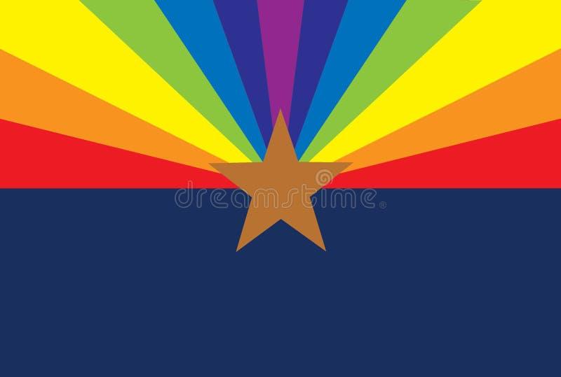 Arizona för glade rätter flagga arkivfoto
