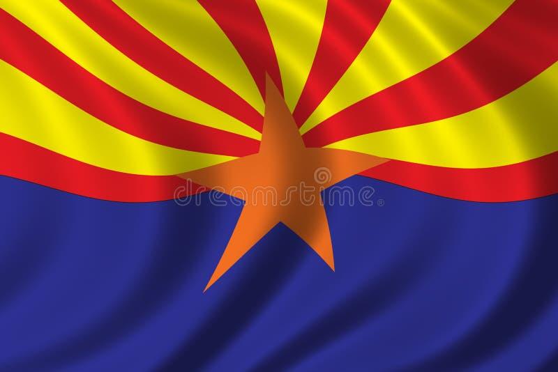 arizona flagę ilustracja wektor