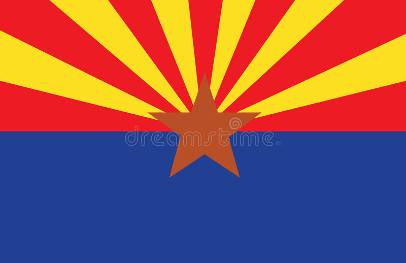 ARIZONA FLAG stock illustration