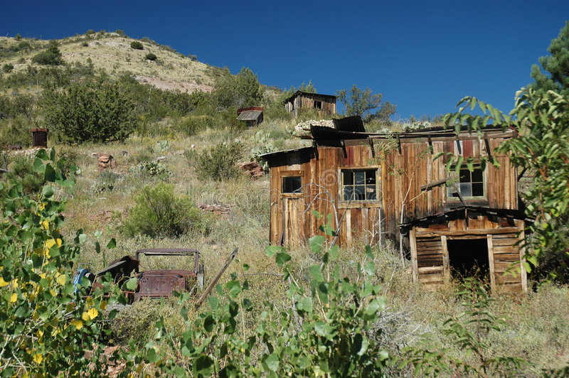 Arizona Ghost town stock photography