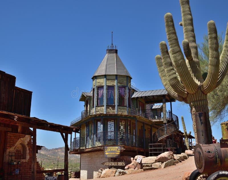 Arizona, Goldfield: Main Street with Bordello royalty free stock photos