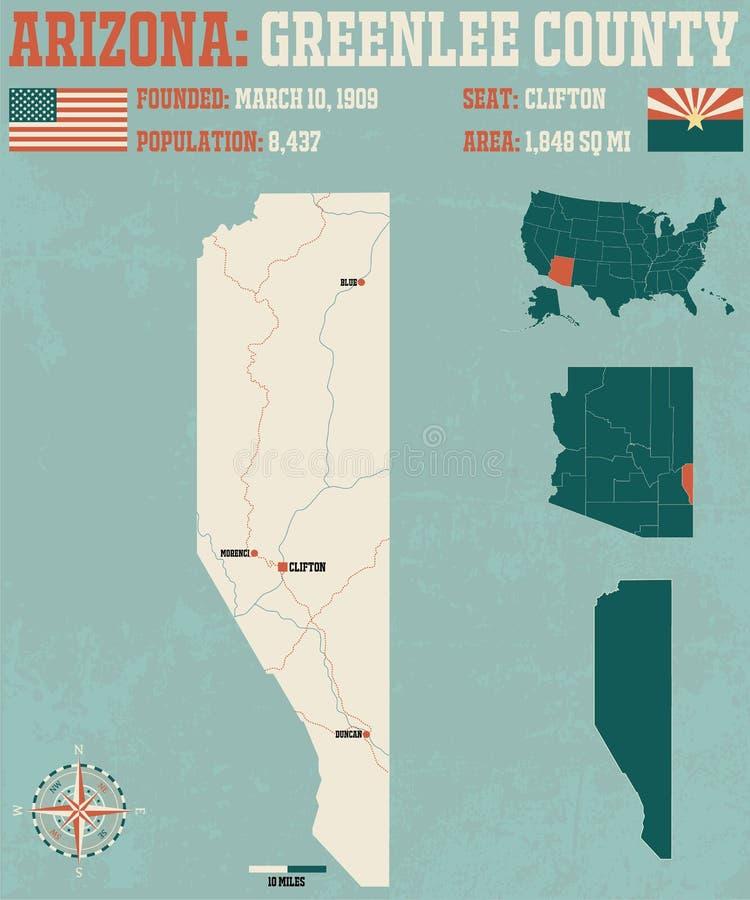 Arizona: Greenelee okręg administracyjny royalty ilustracja