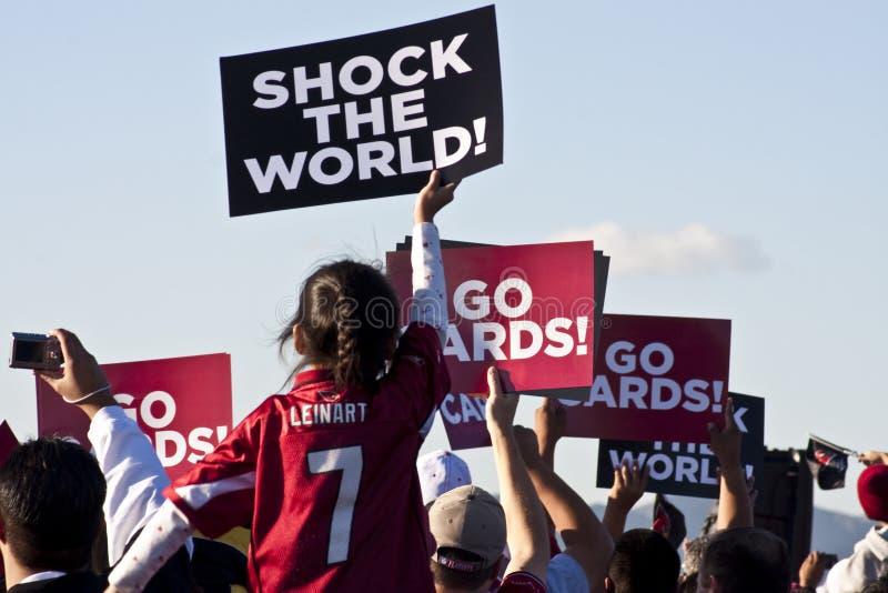 Arizona-hauptsächliches Super Bowl senden weg stockfoto