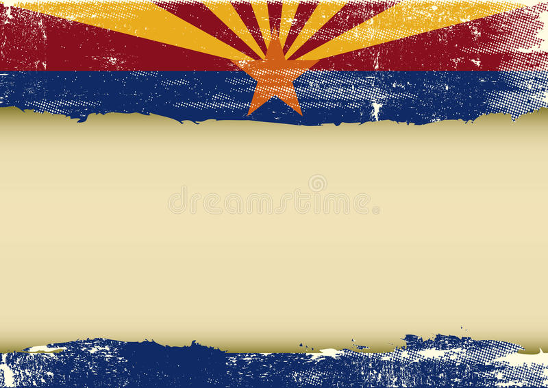 Arizona horisontalskrapad flagga vektor illustrationer