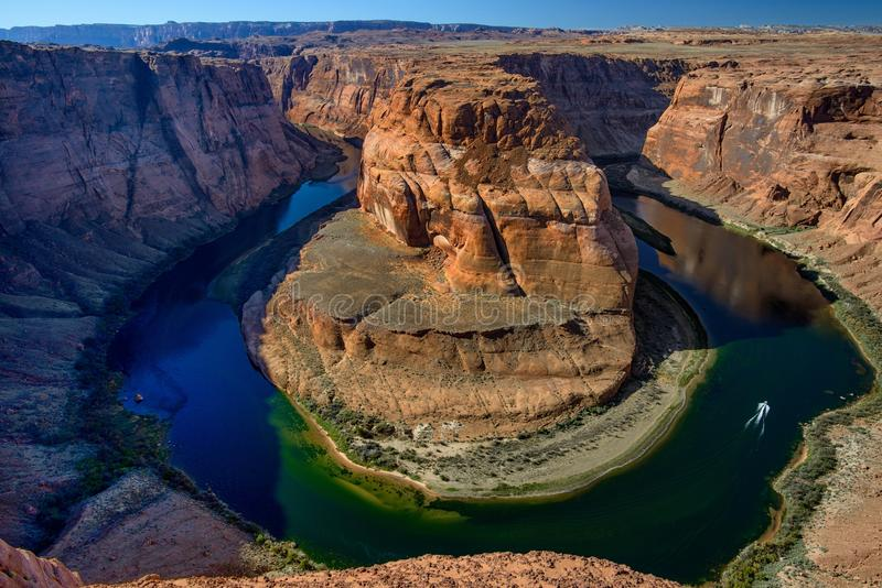 Arizona Horseshoe Bend meander of Colorado River in Glen Canyon royalty free stock photography