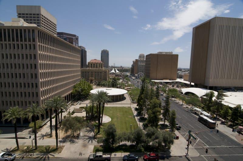 arizona i stadens centrum phoenix fotografering för bildbyråer