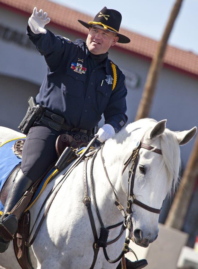 arizona kawaleria wspinał się oficer paradę zdjęcia stock