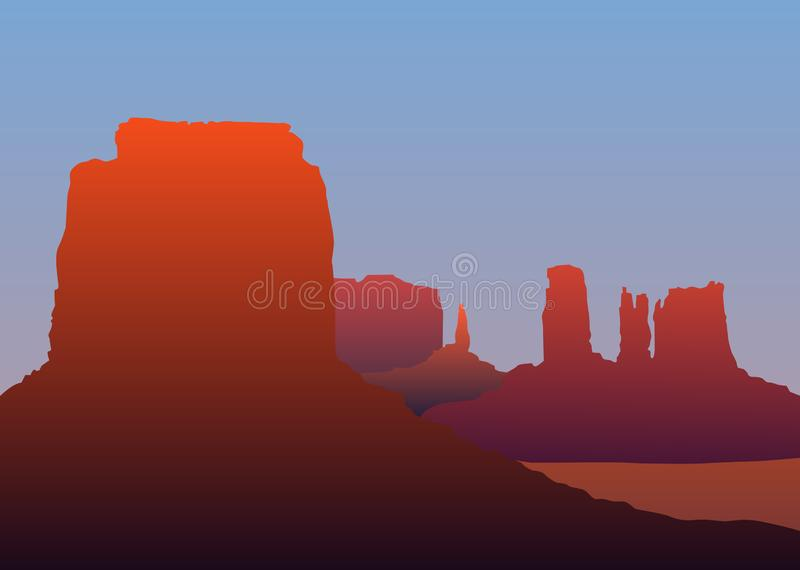 Arizona krajobraz ilustracji