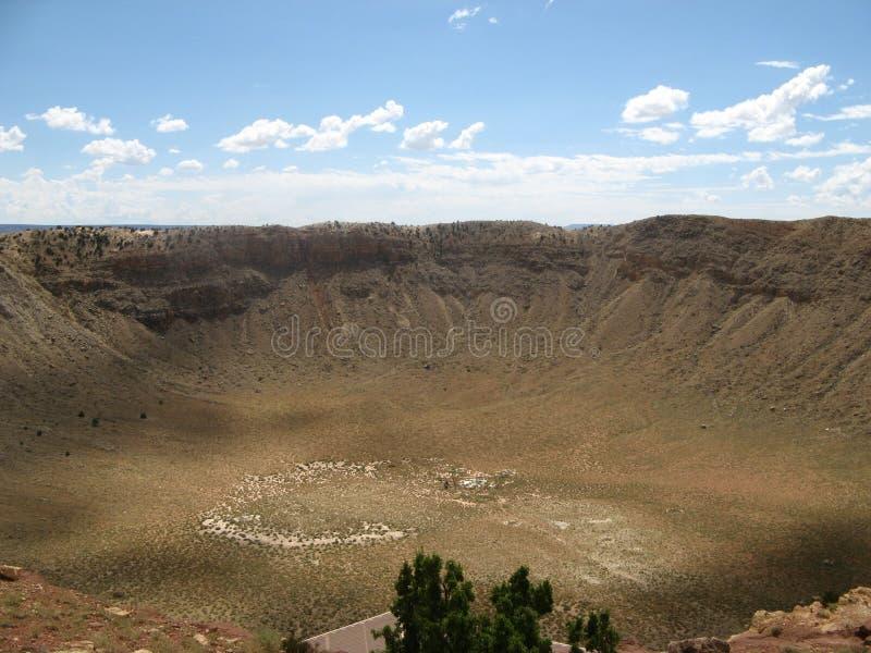 arizona kratermeteor arkivbilder