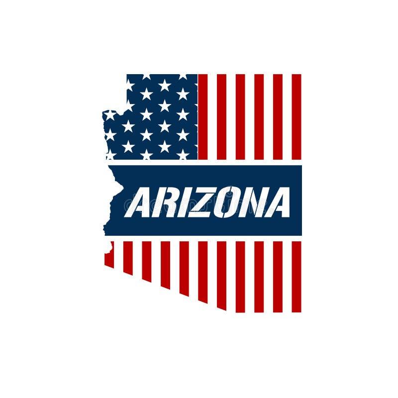 Arizona mapy Patriotyczna ilustracja ilustracja wektor