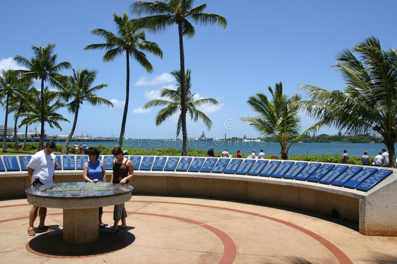 Arizona Memorial. In Pearl Harbour, Oahu, Hawaii royalty free stock photo