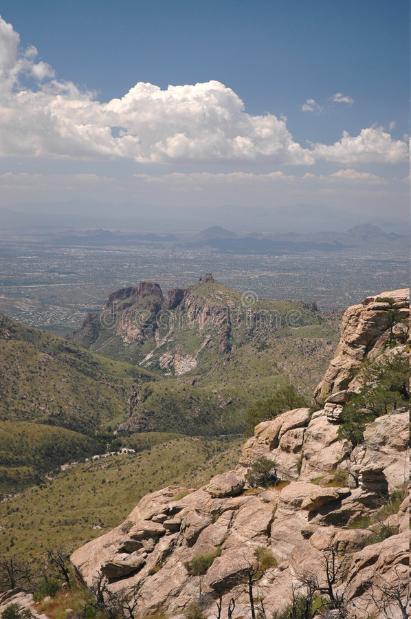 Arizona Mountain View. A view from a mountain top looking down at southern Arizona royalty free stock image