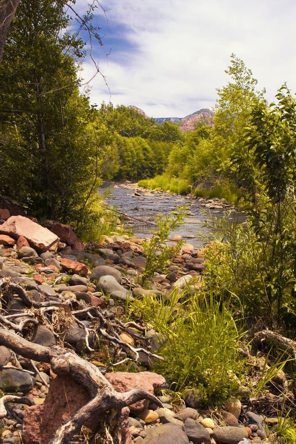Arizona outdoors rocky river shores stock photo