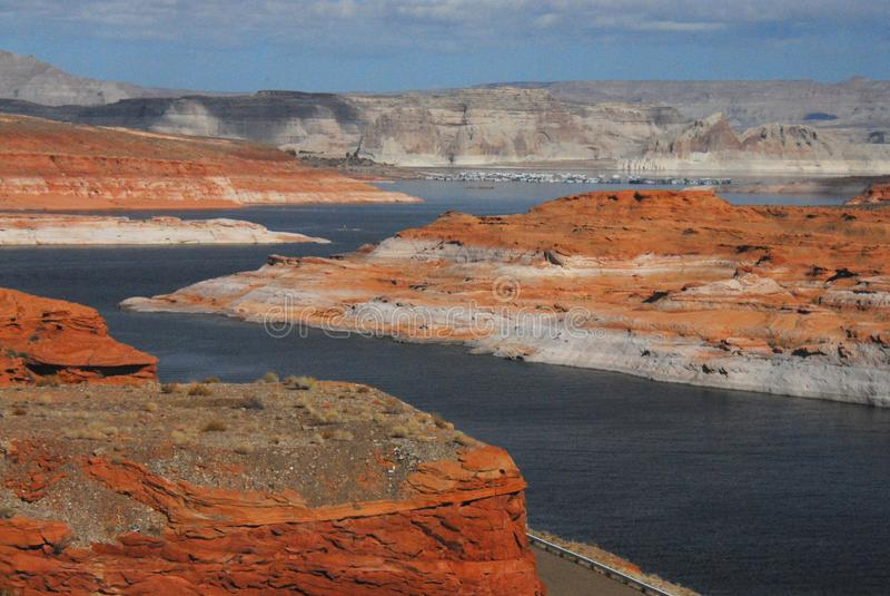 Arizona, página, lago Powell Panorama de los E.E.U.U. foto de archivo