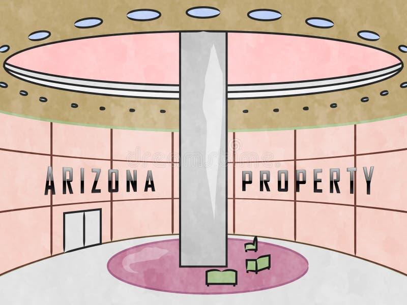 Arizona Property Indoors Montre Un Courtier Immobilier En Az 3D Illustration illustration stock