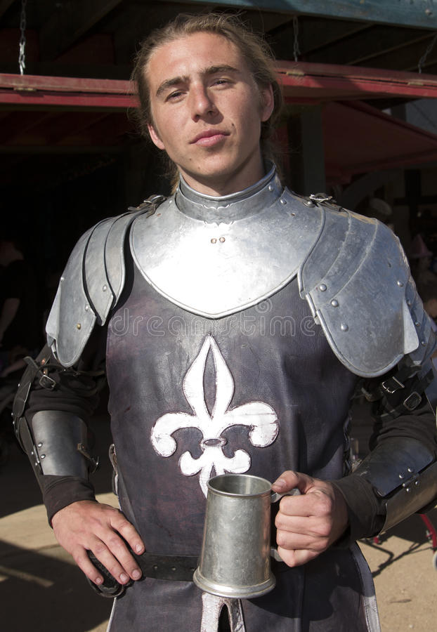 Arizona Renaissance Festival Knight Man royalty free stock photos