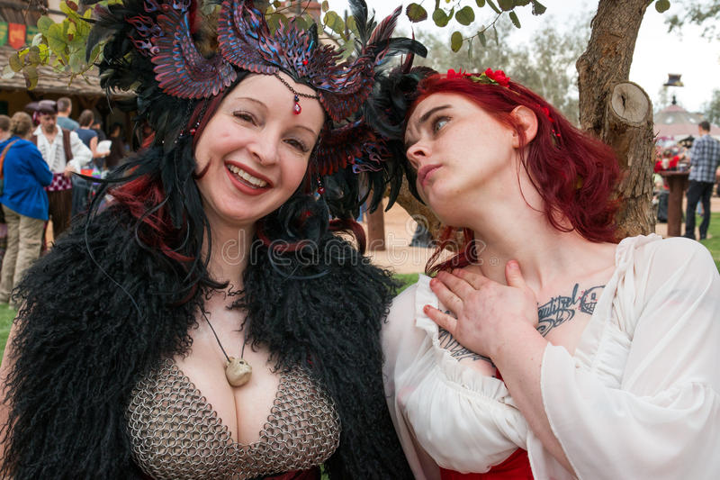 Arizona-Renaissance-Festival-Leute stockfoto