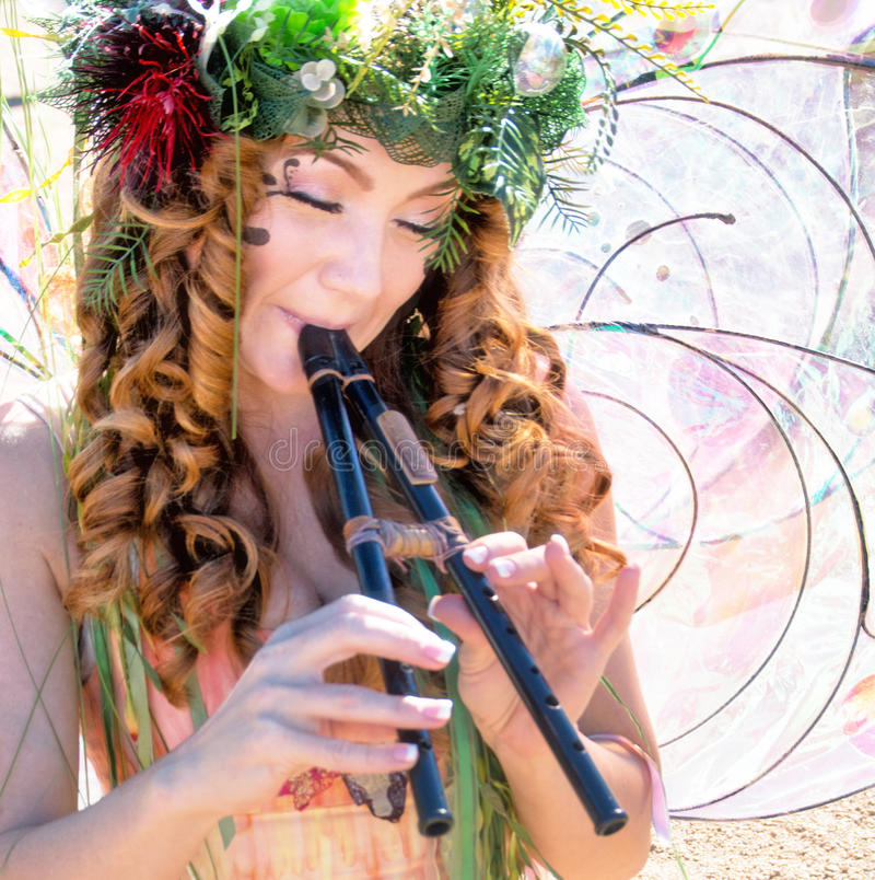 Arizona-Renaissance-Festival-Zweig-Fee lizenzfreies stockbild
