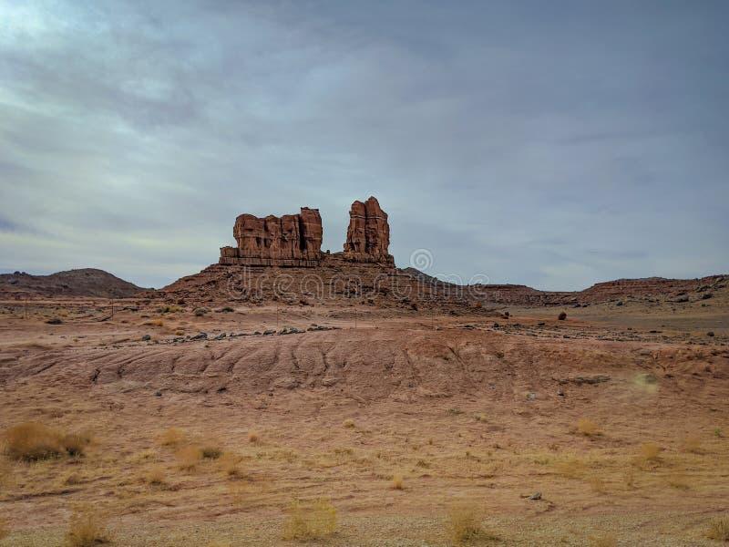 Arizona rock formation in the desert stock image