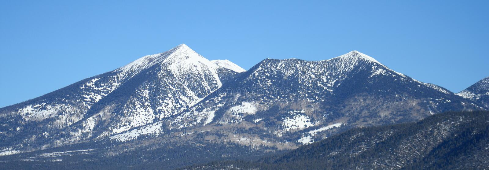 Arizona's San Francisco Peaks in Winter. A winter view of the southern slopes of the San Francisco Peaks, Arizona royalty free stock photos