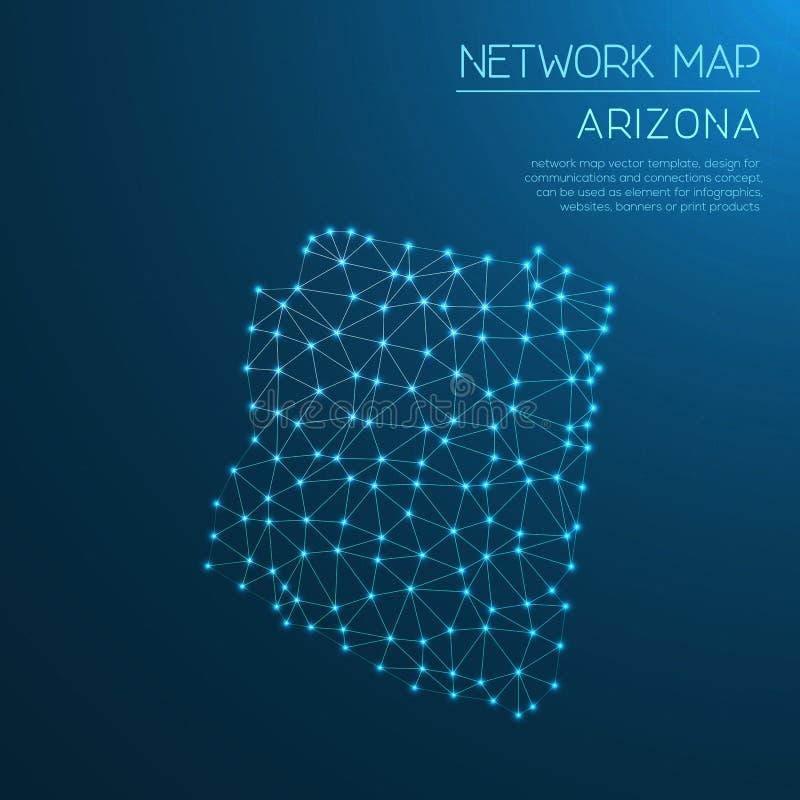 Arizona sieci mapa ilustracja wektor