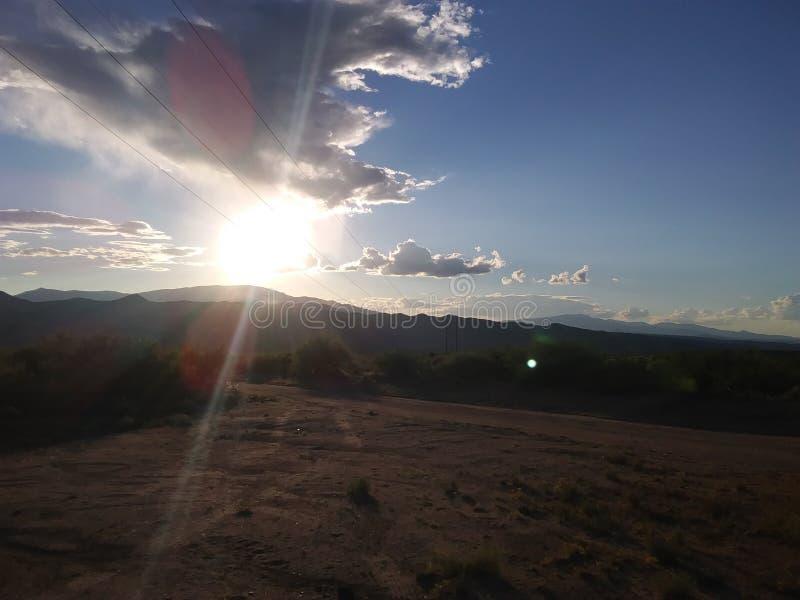 Arizona Sky. Sundown in Arizona stock photos