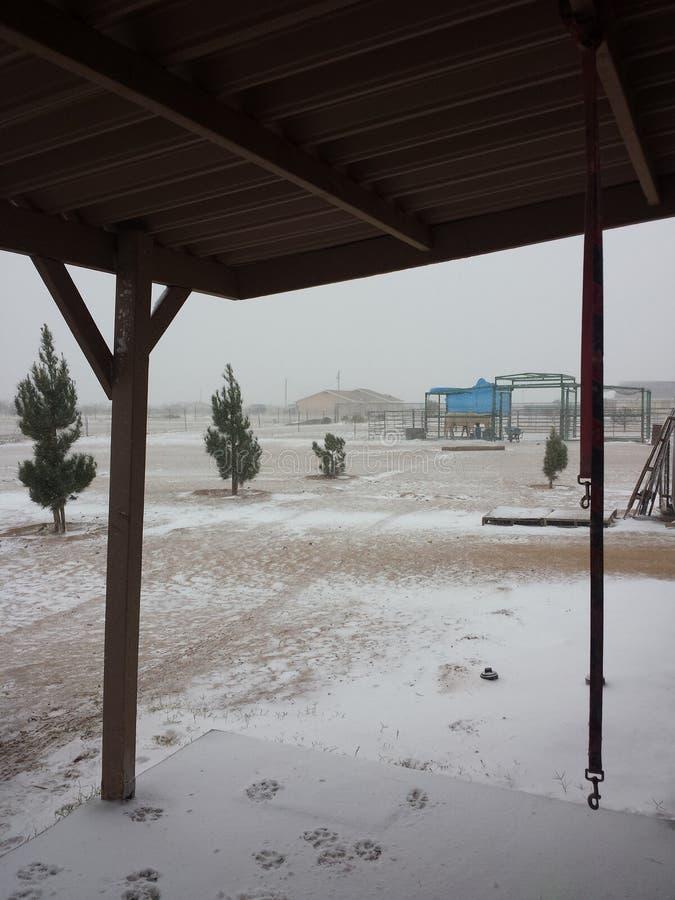 Arizona snow stock photography