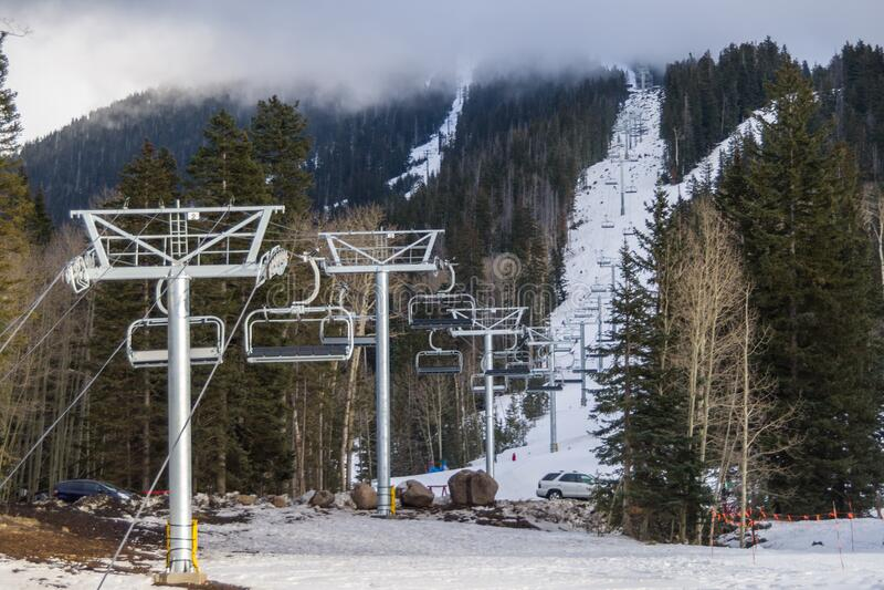 Arizona Snowbowl Grand Canyon Express Ski Lift Opening Celebration royalty free stock photos