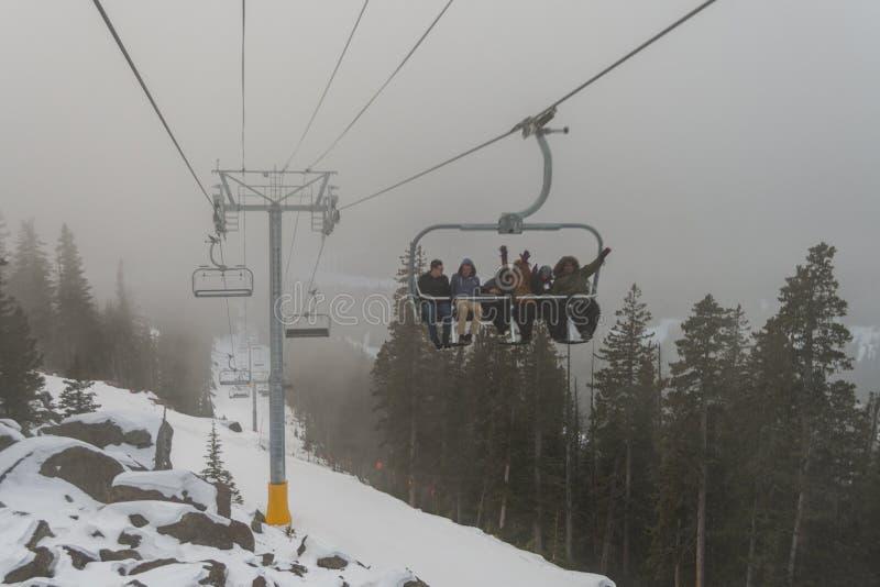 Arizona Snowbowl Grand Canyon Express Ski Lift Opening Celebration stock images