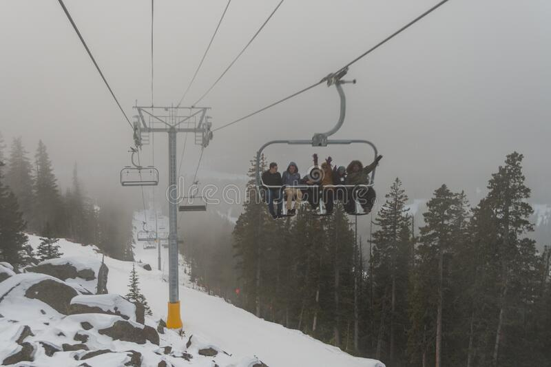 Arizona Snowbowl Grand Canyon Express Ski Lift Opening Celebration stock images