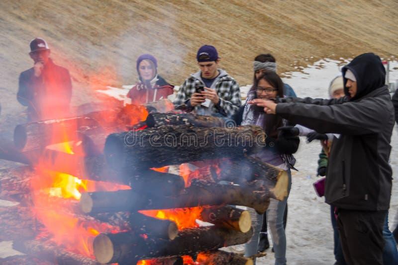 Arizona Snowbowl Grand Canyon Express Ski Lift Opening Firning Gratis Allmän Egendom Cc0 Bild
