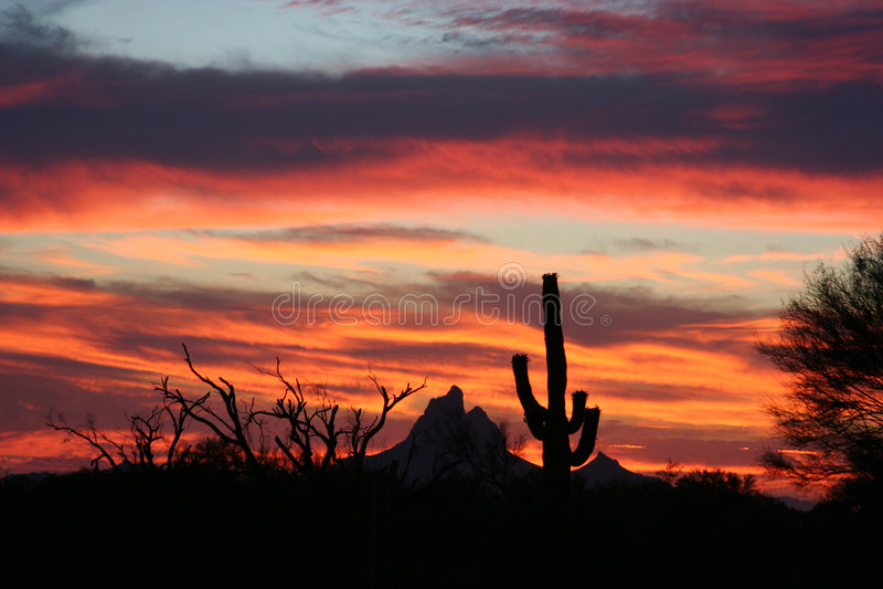 arizona solnedgång arkivfoto