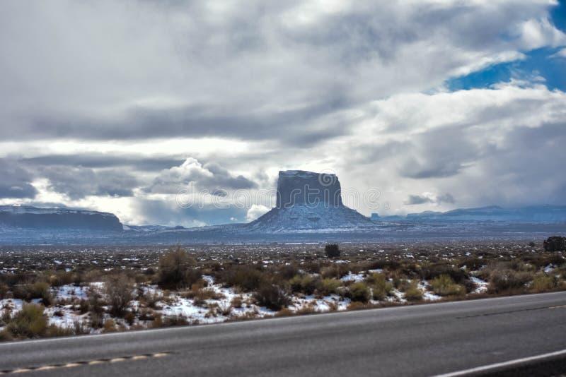 Arizona-/Staat Utah-Linie stockbild