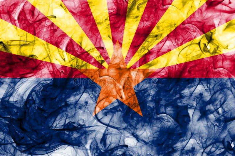 Arizona stanu dymu flaga, Stany Zjednoczone Ameryka royalty ilustracja