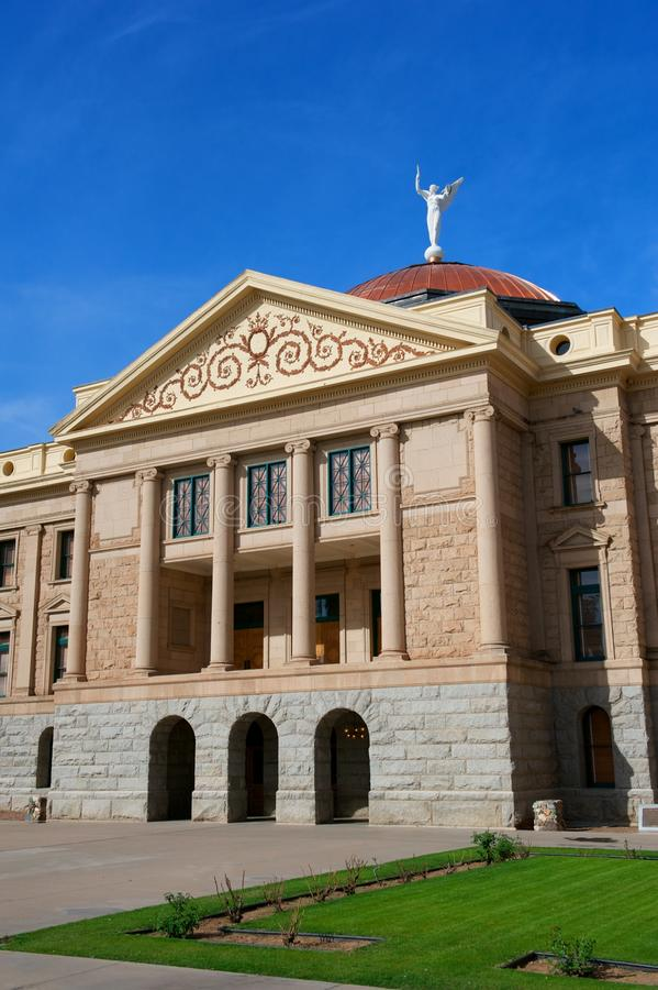 Arizona State Capital with pillars & copper dome stock image