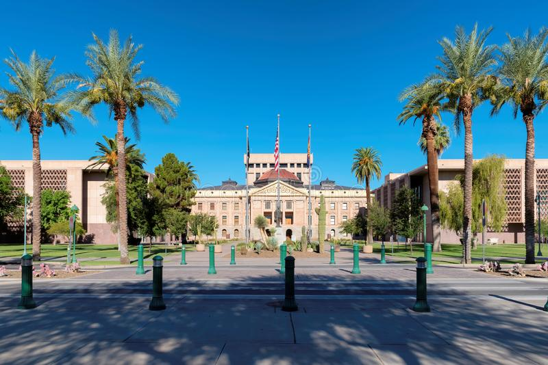 Arizona State Capitol building in Phoenix. Arizona State Capitol building at summertime in Phoenix, Arizona royalty free stock photo