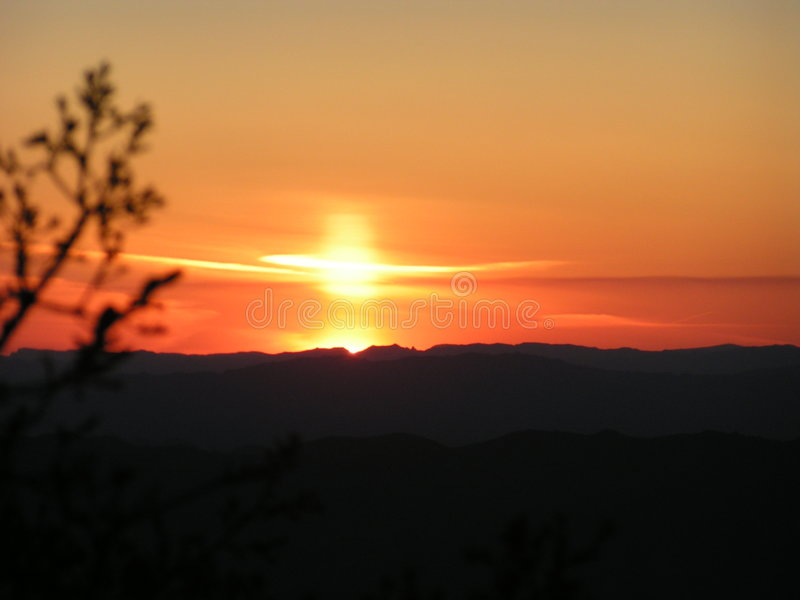 Arizona Sunset.  royalty free stock image