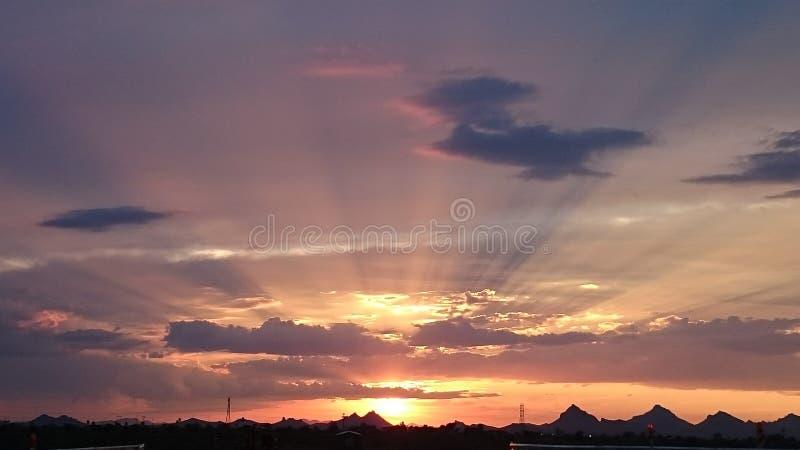 Arizona sunset royalty free stock photography