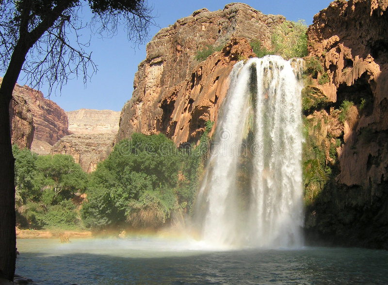 arizona vattenfall arkivbild